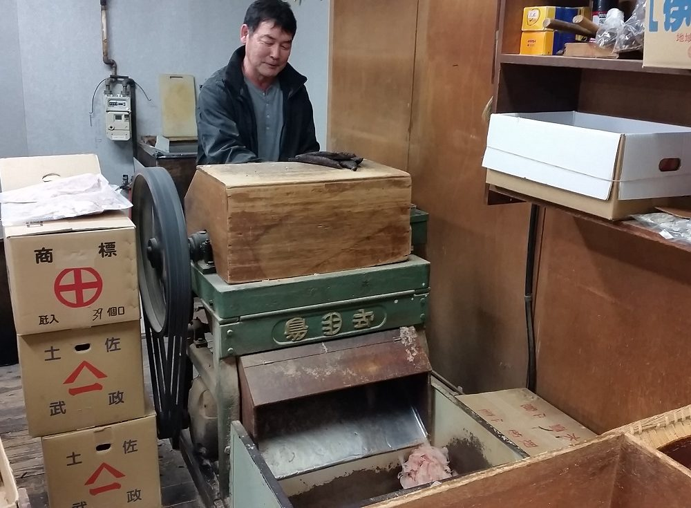 50年間働いている削り機